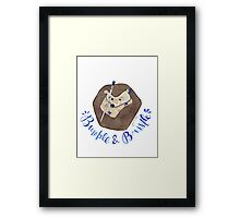 Bumble & Bristle Logo Framed Print