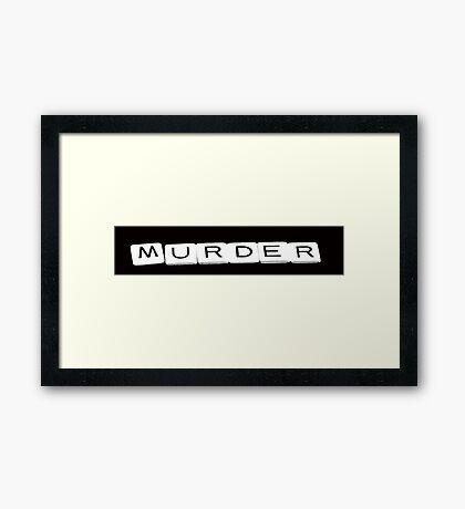 Murder Framed Print