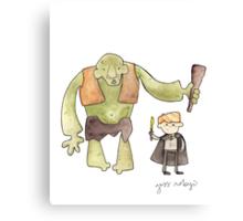 Harry Potter's Troll Canvas Print