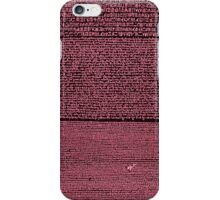Rosetta Stone - Red/Rose/Blue iPhone Case/Skin