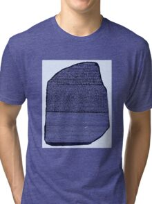 The Rosetta Stone Blue Tri-blend T-Shirt