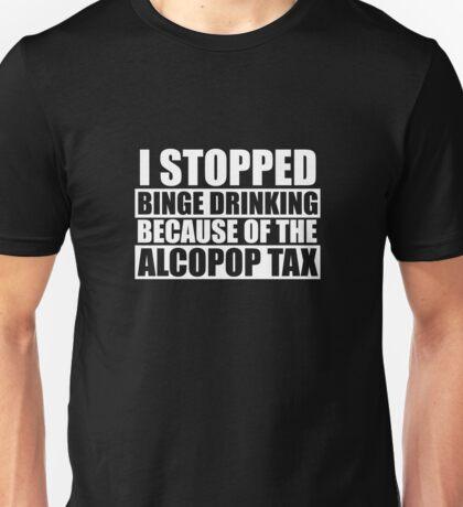 Alcopop Tax Tshirt (white print) Unisex T-Shirt