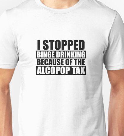 Alcopop Tax Tshirt (black print) Unisex T-Shirt