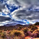 Snow Speckled Hills North of Phoenix by Roger Passman