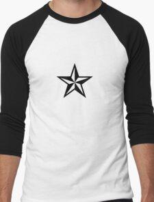 Nautical Star (black print) Men's Baseball ¾ T-Shirt