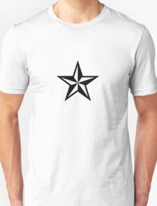 Nautical Star (black print) Unisex T-Shirt