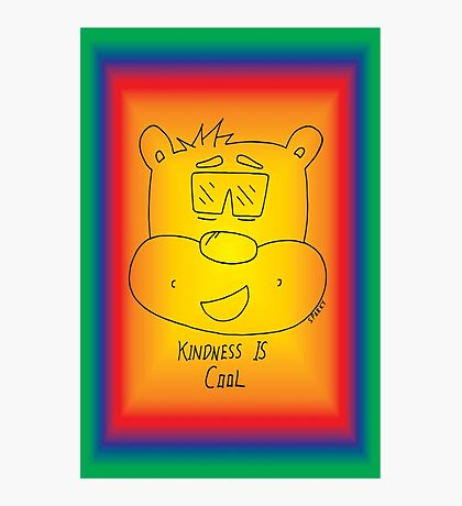 Kindness Is Cool Card - Rainbow Photographic Print