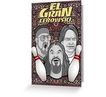 the big lebowski spanish collage Greeting Card