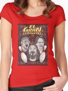 the big lebowski spanish collage Women's Fitted Scoop T-Shirt