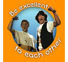 Bill and Ted's Excellent T-Shirt Photographic Print
