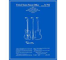 Guitar Patent - Blueprint Photographic Print