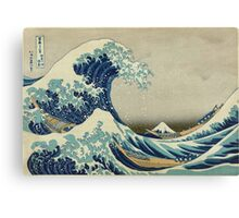 the great wave kanagawa japan Canvas Print