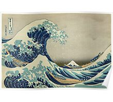 the great wave kanagawa japan Poster