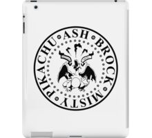 gotta catch 'em all (black logo) iPad Case/Skin