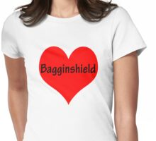 Bagginshield of My Heart Womens Fitted T-Shirt
