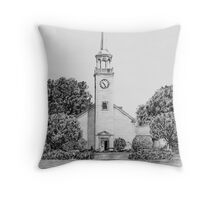 'The White Chapel' Throw Pillow