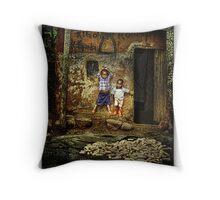 Uganda: Porch Boys Throw Pillow