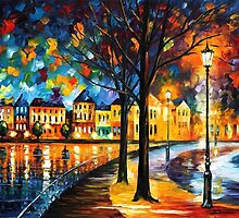 Park By The River — Buy Now Link - www.etsy.com/listing/193255567 by Leonid  Afremov