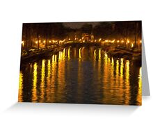 Amsterdam Canal - Oil Painting Effect Greeting Card