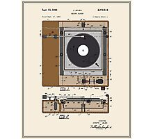 Record Player Patent - Color Photographic Print