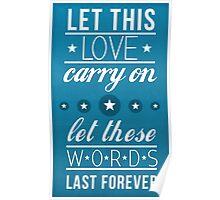Love Typographic Print  Poster