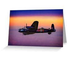 Lancaster At Dawn Greeting Card