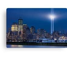 9/11 Tribute Lights and the Freedom Tower Canvas Print