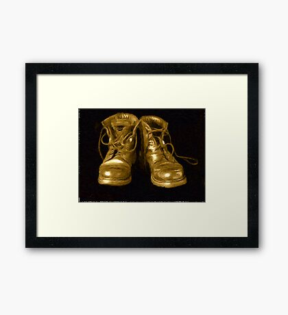 Boots Impressionist Oil Painting Effect Framed Print