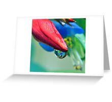 Waterdrop Reflection Greeting Card