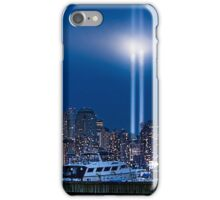 9/11 Tribute Lights and the Freedom Tower iPhone Case/Skin