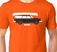 ROAM Volvo Granola Wagon with Canoe Unisex T-Shirt