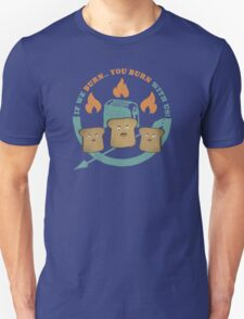 The Toast On Fire Unisex T-Shirt
