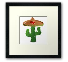 Cactus Wearing a Sombrero Framed Print