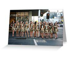 Miss Italia-Australia Finalist 2008 Greeting Card