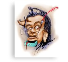 surreal Dali portrait Canvas Print