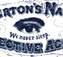 Chicago Series: Pinkerton Detective Agency Sticker