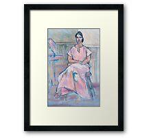 Becky in Pink Framed Print