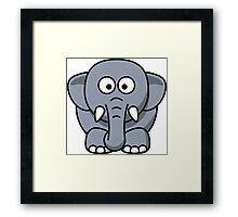 Elephant Vector Cartoon Framed Print