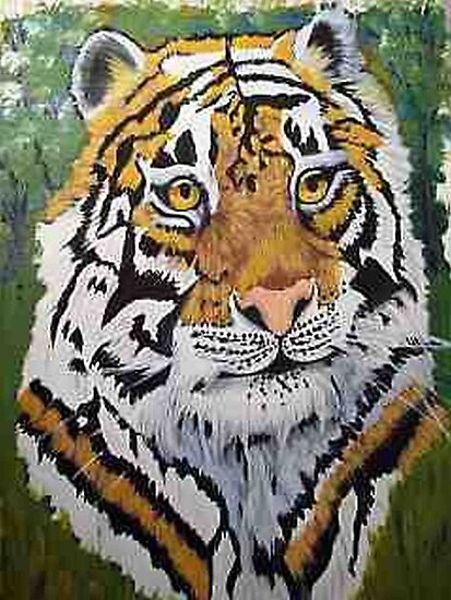 Siberian Tiger portrait oil painting by coolart