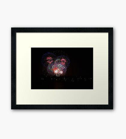 New Years Eve Fireworks 2014  Framed Print