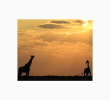 Giraffe Sunset - African Wildlife - Silhouette Pair T-Shirt