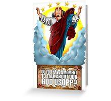 god Usopp One Piece Greeting Card