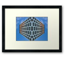 floating urban reality Framed Print