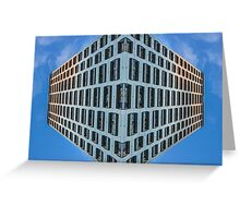 floating urban reality Greeting Card