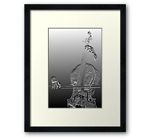 The Cello In Good Hands. Framed Print