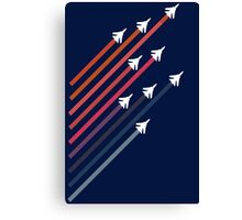 Rainbow Jets Canvas Print