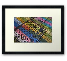 Party Lines Framed Print
