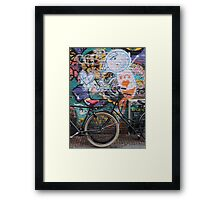 Amsterdam - Wall and wheels Framed Print