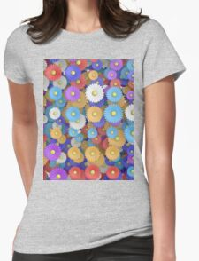 pop flowers Womens Fitted T-Shirt