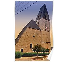 The village church of Kematen a.d. Krems II   architectural photography Poster